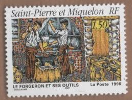 WP7L5 St Pierre Et Miquelon SPM **  1996 Forgeron - Unused Stamps