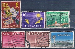 Malasia ( Federacion ) 1963 / 65  -  Michel  1 + 4 + 13 / 15 + 17  ( Usados ) - Malaysia (1964-...)