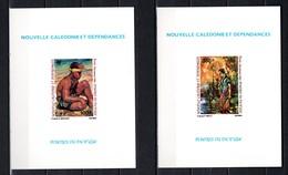 Nlle CALEDONIE PA N° 234 + 235  EPREUVES DE LUXE  NEUFS SANS CHARNIERE  COTE 45.00€  PEINTRE  TABLEAUX - Imperforates, Proofs & Errors