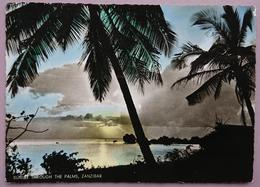 ZANZIBAR - Sunset Through The Palms - Vg 1962 - Tanzania