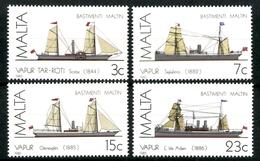 Malta, Schiffe, MiNr. 739-742, Postfrisch / MNH - Malta