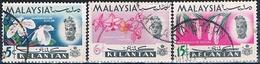 Malasia ( Estado De Kelantan ) 1965  -  Michel  92 + 93 + 95  ( Usados ) - Malaysia (1964-...)