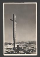 Montana Vermala - La Croix Du Cris D'Ers Au Mt. Lachaud Derrière, Les Alpes Valaisannes - Carte Photo - 1932 - VS Valais