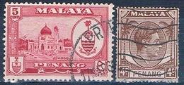 Malasia ( Estado De Panang ) 1949 / 60  -  Michel  6 + 58    ( Usados ) - Malasia (1964-...)