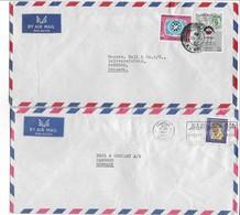 Kuwait - 2 Covers Sent To Denmark.  # 201 # - Kuwait