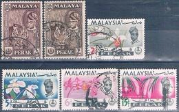 Malasia ( Estado De Perak ) 1957 / 65  -  Michel  108 + 116 / 18 + 120    ( Usados ) - Malasia (1964-...)