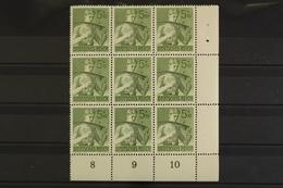 Deutsches Reich, MiNr. 851, 9er Block, Ecke Re. Unten, Postfrisch / MNH - Allemagne