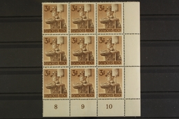 Deutsches Reich, MiNr. 850, 9er Block, Ecke Re. Unten, Postfrisch / MNH - Allemagne