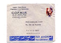 Devant De Lettre Cachet Annulation Paris  Sur Mosquee - Morocco (1956-...)