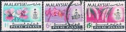 Malasia ( Estado De Pulau Pinang ) 1965  -  Michel  66 + 69 + 71  ( Usados ) - Malaysia (1964-...)