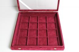 1-lagige Rote Kassette Für 16 Münzen - Supplies And Equipment