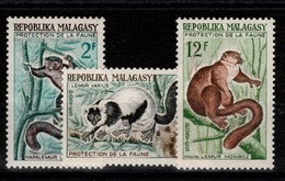 Madagascar - YV 357 à 359 N** Lemuriens - Madagascar (1960-...)