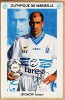 Cpasport 094 OM 1996-97 Yordan LETCHKOV Milieu De Terrain Bulgare OLYMPIQUE De MARSEILLE Eurest Adidas TAT - Calcio