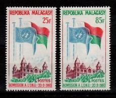Madagascar - YV 362 à 363 N** Admission à L'ONU - Madagascar (1960-...)