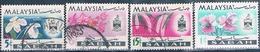 Malasia ( Estado De Sabah ) 1965  -  Michel  17 + 19 + 20 + 22  ( Usados ) - Malasia (1964-...)