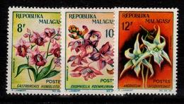 Madagascar - YV 385 à 387 N** Orchidees - Madagascar (1960-...)