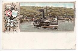 LITHO ZUG Grüsse Vom Zugersee Dampfschiff - ZG Zoug