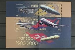 Malta, Flugzeuge, MiNr. Block 19, Postfrisch / MNH - Malta
