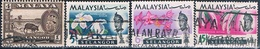 Malasia ( Estado De Salangor ) 1962 / 65  -  Michel  92 + 100 + 101 + 103  ( Usados ) - Malaysia (1964-...)