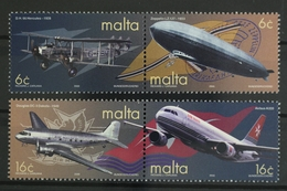 Malta, Flugzeuge, MiNr. 1129-1132, 2 Paare, Postfrisch / MNH - Malta