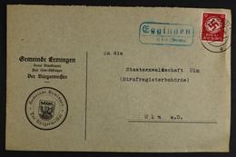 Eggingen über Ulm (Donau), Landpoststempel Auf Dienstbrief - Unclassified
