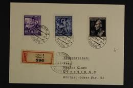 Böhmen & Mähren, Blankokarte Als Einschreiben Ab Tabor 3 - Occupation 1938-45