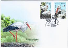 Belarus 2019 FDC White Stork, Bird Birds Fauna, Europa-CEPT - Belarus