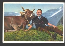 Selden In Gasterntal - Sennerbueb Von Selden In Gasterntal - Beschädigt - Kuh / Vache / Cow - BE Berne