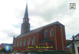Set 10 Cartes Postales, Bâtiments , Churches Of Belgium, Burst, Sint-Martinuskerk (1) - Chiese E Cattedrali
