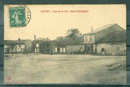 08 - SAVIGNY - Place Mi-la-Ville - Café FOURIAUT - France