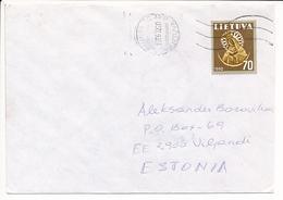 Mi 475 Solo Cover - 20 February 1996 Kaunas To Estonia - Lithuania