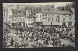 FELDPOST Postkaart Van NAMUR Marché Aux Légumes Très Animé - Café Du Marché , Au Brave Homme, Au Ratin-tot ! - Namur