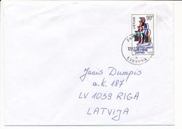 Mi 644 Solo Cover / 2nd Baltic Sea Games - 26 October 1997 Panevėžys To Latvia - Lithuania