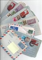 Lot ~80 Aérogrammes -correspondances De France (Lokenath) Bhattacharya -from India-Inde - Manuscrits