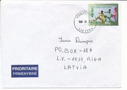 Mi 669 Solo Cover / Athletics Long Jump - 3 August 1998 Vilkaviškis To Latvia - Lithuania