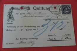 Zurich Velo Club Der Stadt Quitting 1906 - ZH Zurich