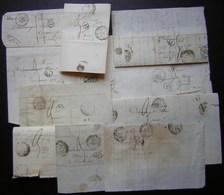 Châlons Sur Marne Lot De 10 Lettres Des Années 1830 Voir Photos ! - Postmark Collection (Covers)