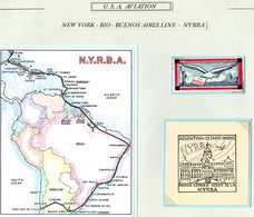 USA Aviation New York - Rio - Buenos Aires Line NYBRA. Statue Of Liberty, Mint. Argentina Brazil Airmail - Air Mail