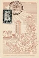 CP  Affr Michel 307 Obl BEXBACH (SAAR)  Du 16.6.51 AUSSTELLUNG GARTEN UND BLUMEN - 1947-56 Occupation Alliée