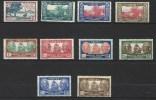 """Nle-Caledonie YT 180 à 189 """" Série Complète """" 1939 Neuf**/* - Nouvelle-Calédonie"""