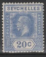 Seychelles 1921 - SG 113, 20cts - King George V - MH - Seychelles (...-1976)
