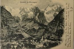 Courmayeur (Vallee D Aoste) Souvenir De ( Promo Card Hotel Savoye) 1904 - Italy