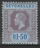 Seychelles 1917 - SG 95, 1r50cts - King George V - MLH - Seychelles (...-1976)