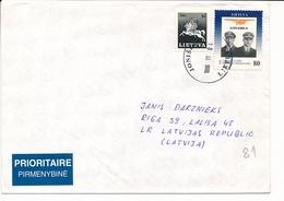 Multiple Stamps Cover - 4 November 1996 Joniškis To Latvia - Lithuania
