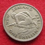 New Zealand 1 One Shilling 1947 KM# 9a *V2 Nova Zelandia Nuova Zelanda Nouvelle Zelande - New Zealand