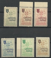 LITAUEN Lithuania 1946 DP Camp Lagerpost Augsburg In Germany Deutschland * - Lithuania