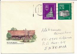 Multiple Stamps Cover - 22 January 1997 Kaunas SC To Estonia - Lithuania