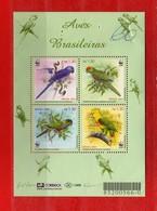 (1) BRASILE  **-2001-FAUNE - Uccelli Birds Oisaux. Yvert 2685 à 2688. MNH. Per Difetto Vedi La Descrizione. - Blocchi & Foglietti