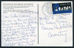 1973 Norway Royal Viking Ship Postcard, Maiden Voyage - Norway