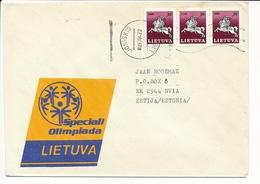 Multiple Stamps Cover - 22 April 1997Joniškis To Estonia - Lithuania